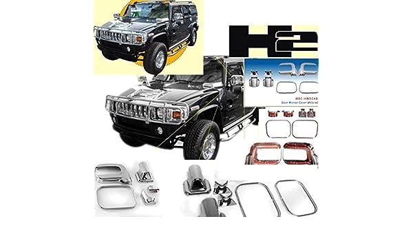 Hummer H2/H-2/H 2/cromo exterior ABS moldeado espejo Cover Cubre Juego de tapacubos 2006/2007/2008/2009