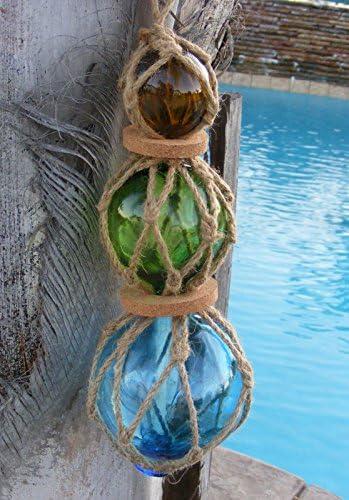 "3/"" GREEN CURIO GLASS FLOAT BALL BUOY BOUY"