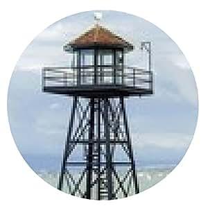 alfombrilla de ratón Alcatraz torre de guardia, San Francisco, California - ronda - 20cm