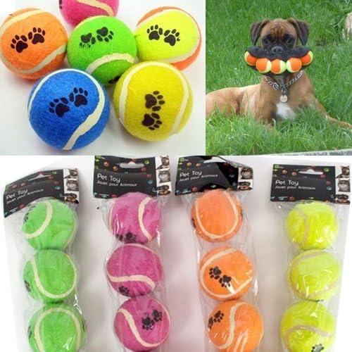 12 bolas de tenis para perro, pelotas de rosca, para jardín, gargantilla fuerte, juguete para regalo: Amazon.es: Productos para mascotas