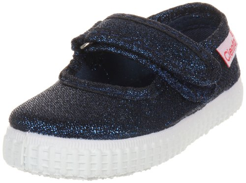 Jane Canvas Mary Blue (Cienta 56013 Glitter Mary Jane Fashion Sneaker,Navy,31 EU (13 M US Little Kid))