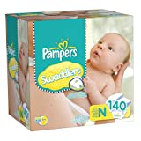 Pampers Swaddlers Diapers Size 0 Giant Pack, 140 Count
