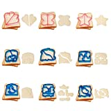 Sandwich Cutters for Kids Christmas Cookie Cutters Holiday Fun Vegetable Cutter Shapes Fruit Stamp - 17Pcs Include Dinosaur Puzzle