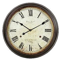 Aspire Emmaline Round Wall Clock, Brown