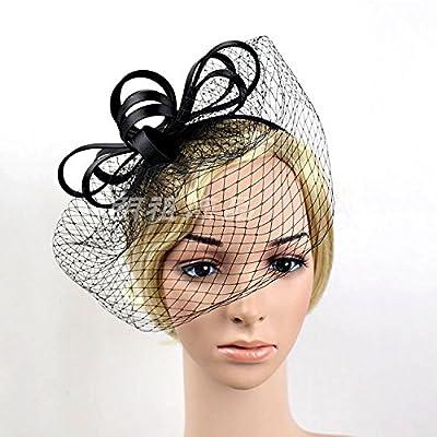 KPHY-La Mariée Coiffe Gazes Épingles À Cheveux Poils Plumes Angleterre Hat Hat Rétro Mme