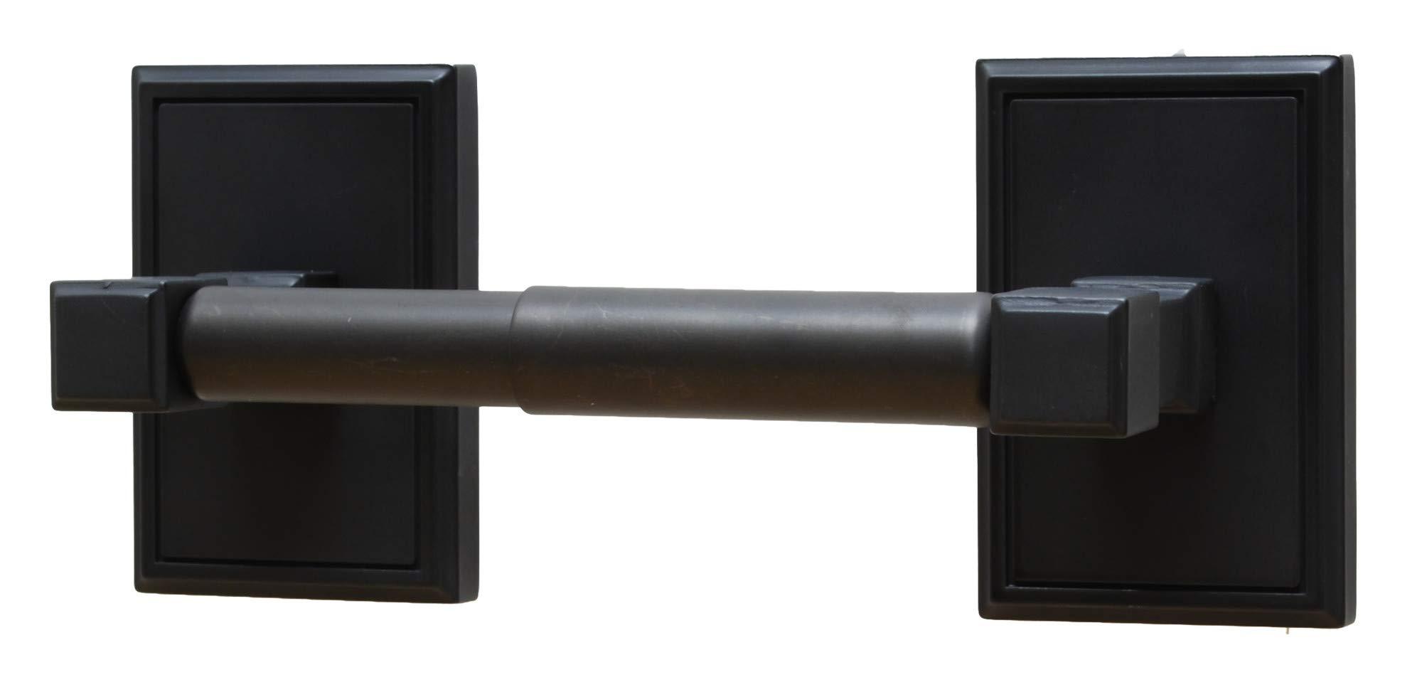 Residential Essentials 2508BK Hamilton Standard Tissue Holder, 9'' x 3.75'', Black
