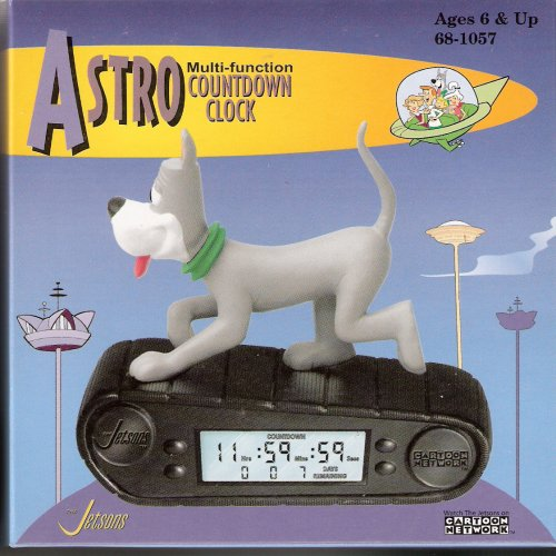 (The Jetsons Multi Function Countdown Alarm Clock & Christmas Ornament - Astro)