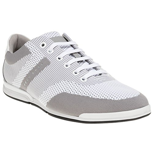 BOSS Green Saturn_Lowp_Knit Trainers White White/Grey 8cQ2yhbEk