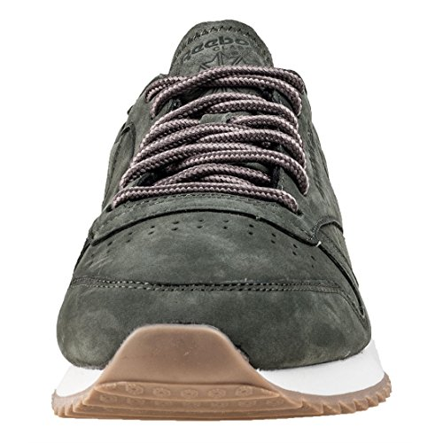 Reebok Cl Leather Ripple WP, Scarpe da Fitness Uomo Verde/Grigio/Bianco (Hunter Green/Urban Grey/Chalk)