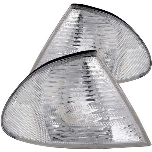 (Anzo USA 521006 BMW Clear W/Amber Reflectors Cornering Light Assembly - (Sold in Pairs))
