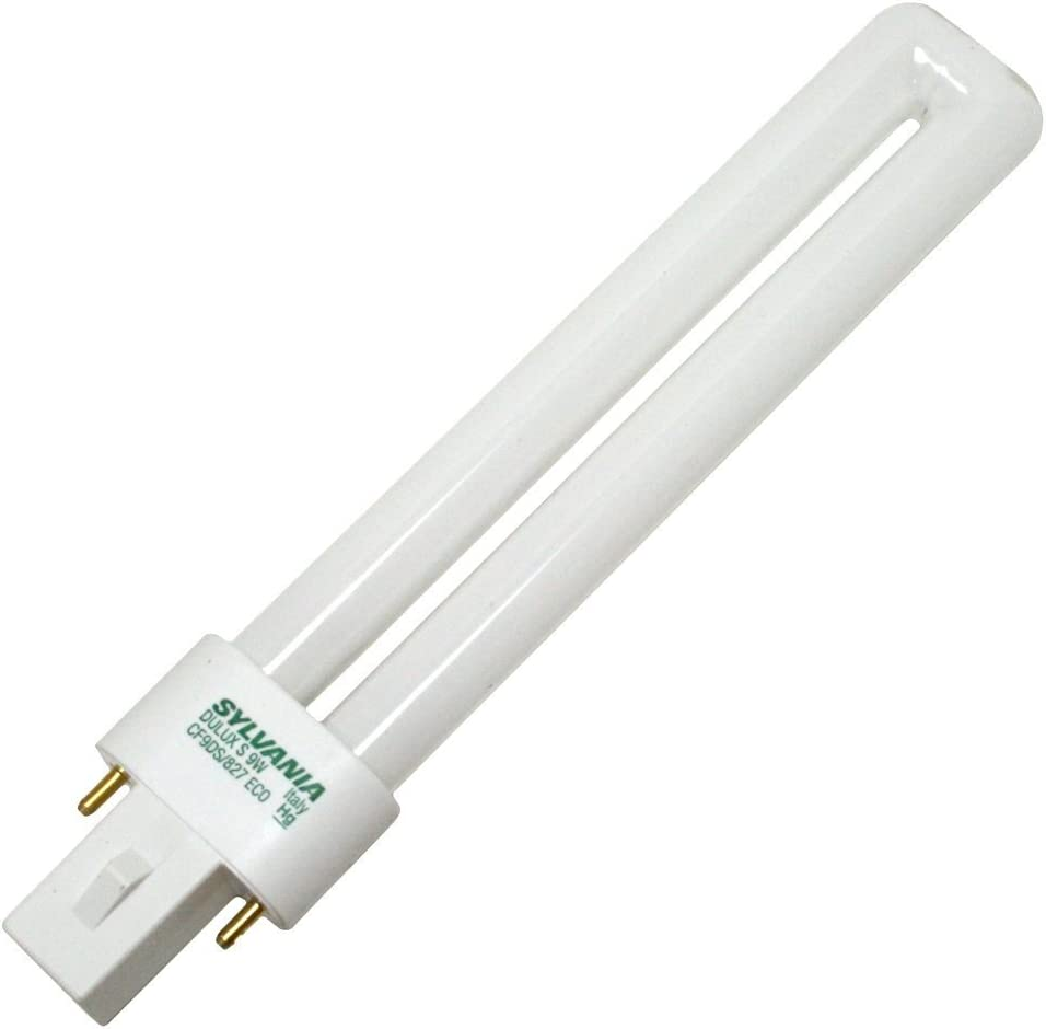 (10 Pack) Sylvania 21272 CF9DS/827/ECO 9-Watt 2700K 2-Pin Single Tube Compact Fluorescent Lamp