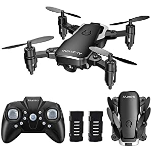 Akamino Mini Drone 2.4GHz Foldable Pocket RC Quadcopter with Headless Mode, 3D Flips, One Key Return Helicopter for Beginners, Kids