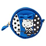 Sanrio Hello Kitty round Petit case blue dot From Japan New