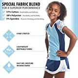 Street Tennis Club Girls Tennis and Golf Shirt with Skirt Blue Floral Size M | Machine Washable, Breathable Fabric