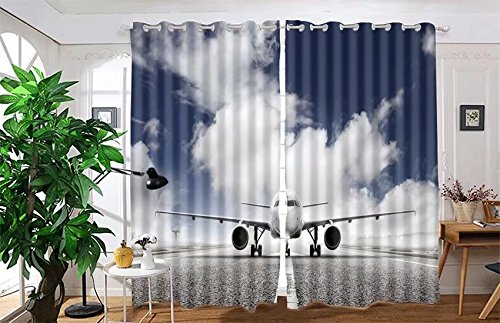 vanfan 2 Panel Set Digital Printed Blackout Window Curtains for Bedroom Living Room Dining Room Kids Youth Room Window Drapes(W108x L63