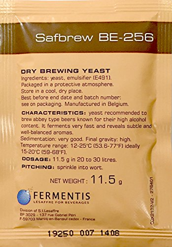 Abbey Ale - Safbrew BE-256 Abbey Yeast, 11.5g - 5-Pack