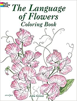 the language of flowers coloring book dover nature coloring book - Nature Coloring Book