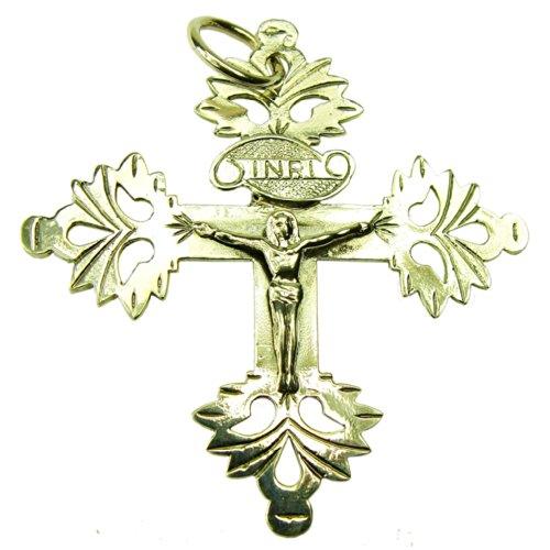 Souvenirs de France - Croix Grille de Chambéry - Matériau : Argent Plein, Plaqué Or ou Or Plein 18-Carats