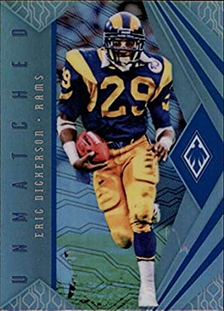 d73f34a68 Amazon.com: 2018 Panini Phoenix Unmatched #4 Eric Dickerson Los Angeles  Rams NFL Football Trading Card: Collectibles & Fine Art