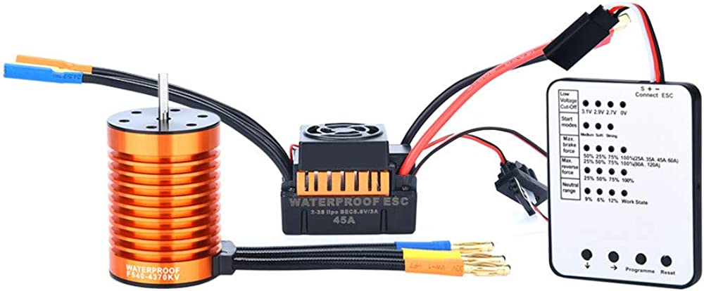 Toys & Hobbies RC Helicopters F540 4370KV Waterproof Brushless Motor&45A ESC for 1/10 RC Racing Car Boat 51ltEbus0DL