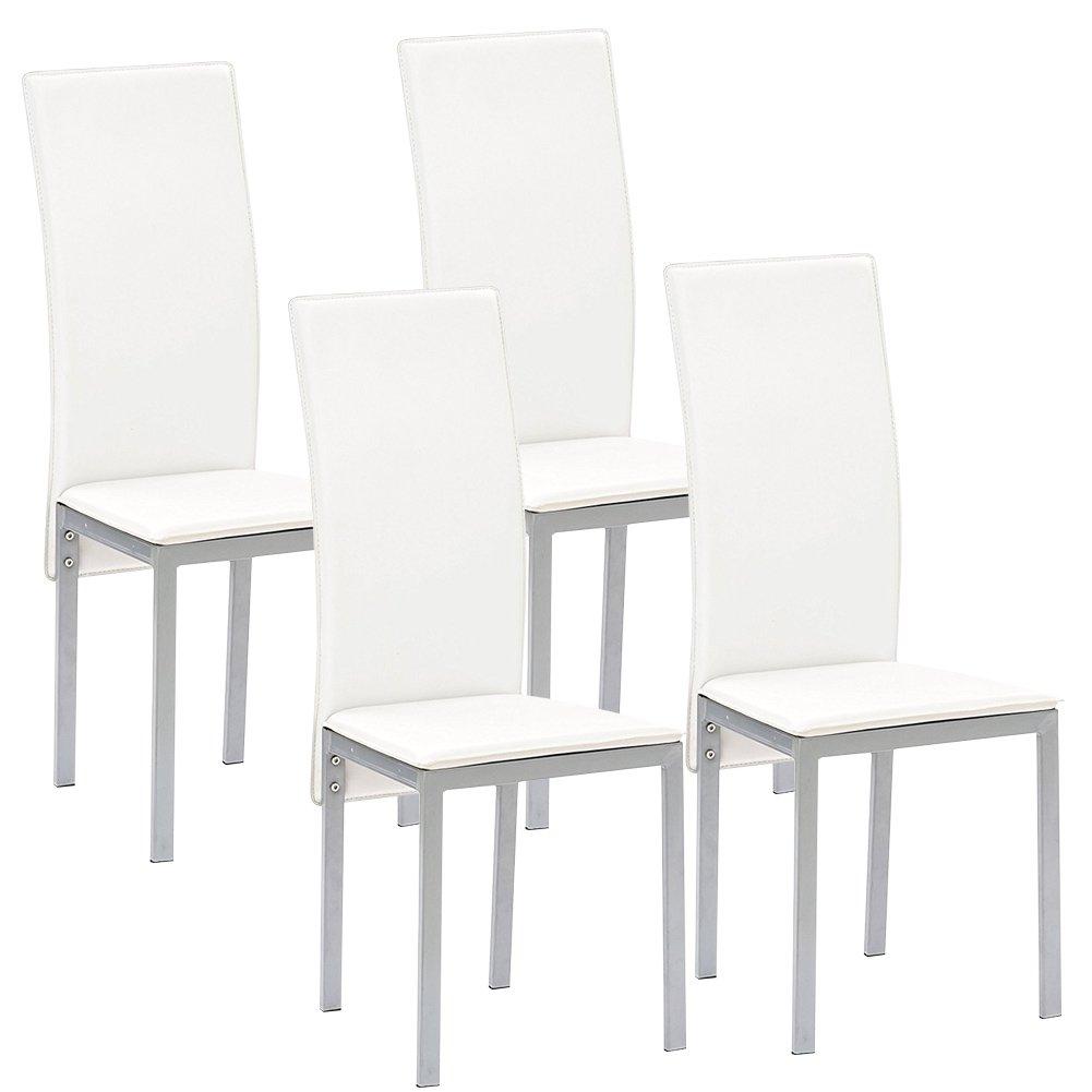 Bakaji Set 4 Sedie per Sala da Pranzo Salotto Cucina Design ...