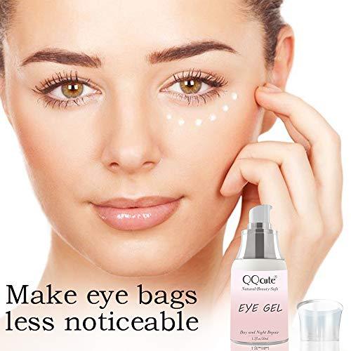 51ltEiDmtAL - Eye Gel, QQcute Day & Night Anti-Aging Eye Treatment Cream for Wrinkle, Dark Circle, Fine Line, Puffy Eyes, Bags Best Hydrogel Eye Moisturizer for Women Mother's Day Gift - 1.7 fl oz.