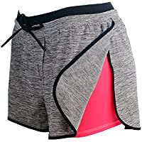 RIBOOM Women Workout Fitness Running Shorts, Performance...