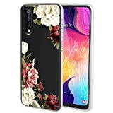 Ueokeird Case for Samsung Galaxy A70, Slim Shockproof Clear Soft Flexible TPU Back Floral Phone Protective Case Cover for Samsung Galaxy A70 (2019) (Blossom Flower)