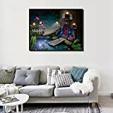 Fairy Tale Tree House LED Light Frame Art Fashion Painting Unique Gift To Friends Without Battery