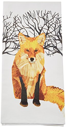 Paperproducts Design Kitchen Towel Featuring Winter Fox Design, Multicolor by Paperproducts Design
