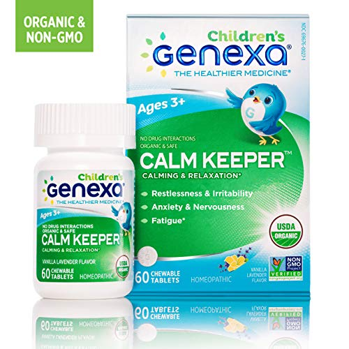 Genexa Calm Keeper for Children | Certified Organic & Non-GMO, Physician Formulated, Homeopathic | Calming & Relaxation Aid for Children | 60 Tablet