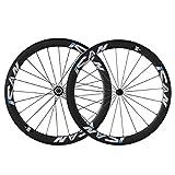 ICAN 50mm 700C Carbon Wheels Road Bike Clincher Rim Shimano or Sram 10/11 Speed 1510g (Classic Wheelset)