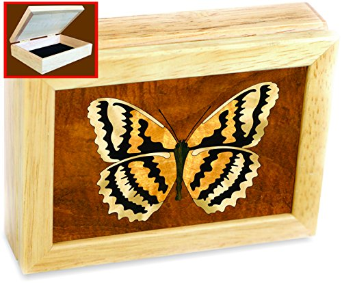 Butterfly Box -Original Work of Wood Art -Unmatched Quality -Handmade in USA -Unique, No Two Are the Same. Butterflies, this Butterfly Picture / Jewelry Box Is a Decoration for Any Room.