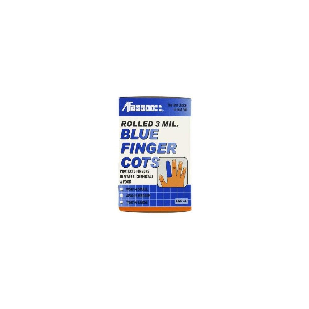 Afassco 5016 Large Blue Finger Cots - 144/BX