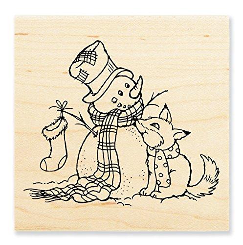 STAMPENDOUS Rubber Stamp, Fox Friend ()