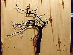 Metal Wall Art, Handmade 3D Wind Blown Tree
