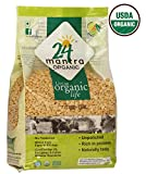 Organic Toor Dal - Organic Split Pigeon Peas (Tur Dal) - USDA Certified Organic - EU Organic - Pesticides Free - Adulteration Free - Sodium Free - 1 Pounds - 24 Mantra Organic