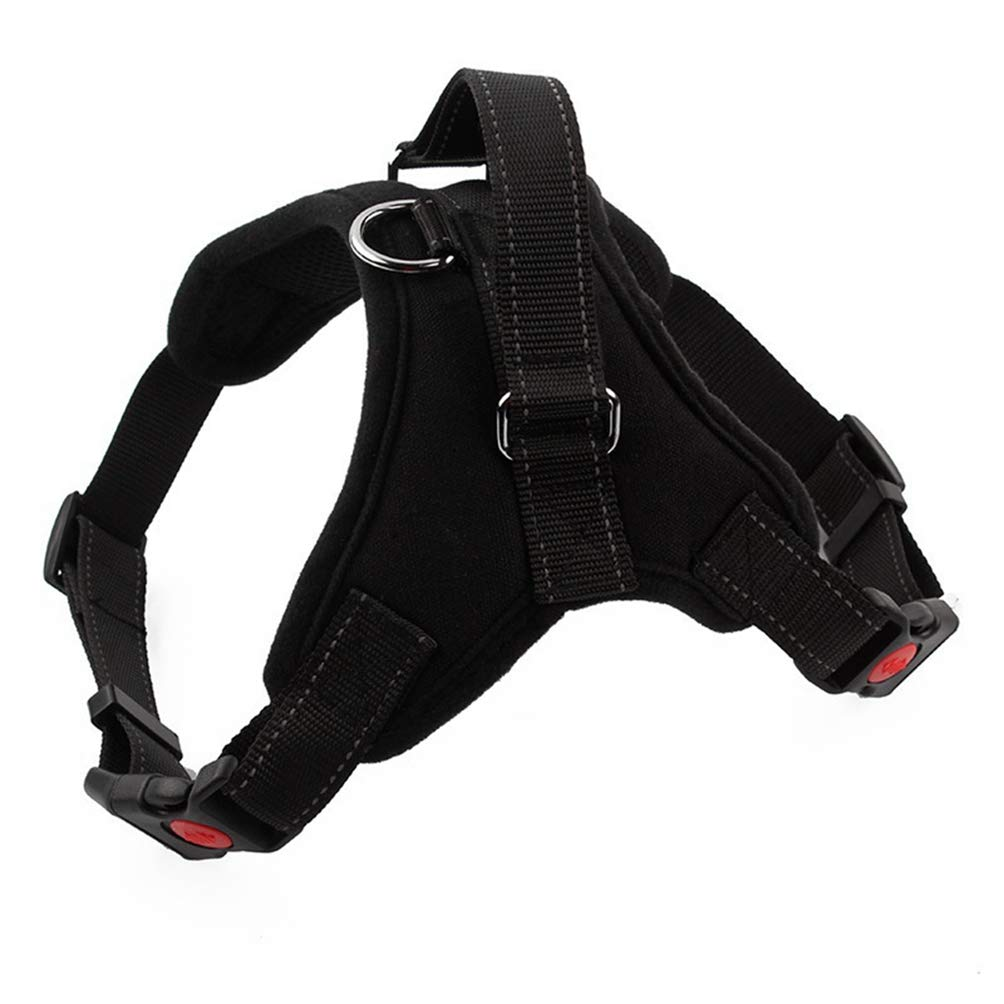 Black XL Black XL Jim Hugh Large Dog Traction Rope Chest Strap Pet Harness Padded Heavy Duty Dog Collar Harness Pet Walking Vest