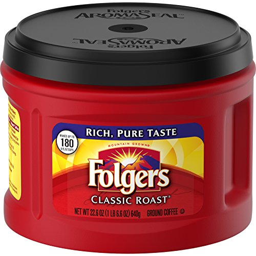 Folgers Classic Roast, Ground Coffee, Medium Roast, 22.6 Ounce, 3 Count