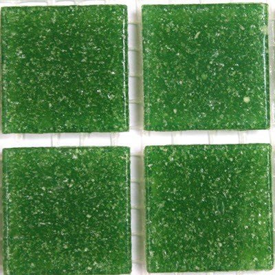 Vitreous Glass Mosaic Tiles 20mm Bright Green Hobby Island AMT217