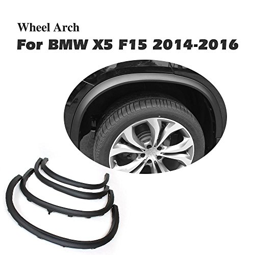 jcsportline Wheel Well Arch Lip Fender Flares Cover Trim Eyebrow Protector for BMW X5 F15 2014-2017
