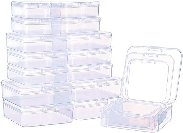 BENECREAT 27 Pack Caja de Contenedores de Almacenamiento de Plastico Transparente de Tamaño Mixto, Pequeña, con Tapa para Artículos, Pildoras, Joyas: Amazon.es: Hogar