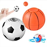 Mini Finger Hand Spinner Ball Football Basketball Hand Spinner EDC Decompression Stress Relief Gyro Toy Kids Baby Child Toys Gifts (White-Football)