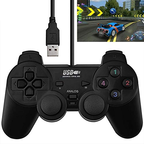 Double Shock PC USB Single Gamepad(Black) ()