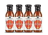 Tessemae's Natural HOT Buffalo Sauce 4 pack, Whole30 Certified, soy-free, dairy-free, gluten-free, sugar-free, vegan