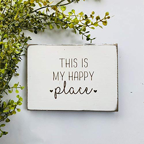 Etch & Ember This is My Happy Place Farmhouse Sign ()