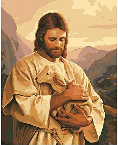 Famosa Religión Pintura Al Óleo De Jesucristo Pintura Por Números Pintados A Mano Lienzo Cuadros Al Óleo Fotos Sin Marco 40X50CM
