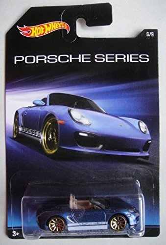Hot Wheels Porsche Series Blue Porsche Boxster Spyder 68