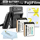 2 Pack Battery And Charger Kit For Fuji Fujifilm FinePix SL1000, SL300, S1 Digital Camera Includes 2 Extended Replacement (2000Mah) For Fuji NP-85 Batteries + Ac/Dc Rapid Charger + Screen Protectors