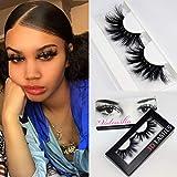 Veleasha High Volume Mink Lashes Cruelty-free 25mm Long 3D Eyelashes Dramatic Look for Makeup (45A)/False Eyelashes